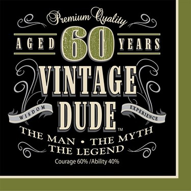 Vintage Dude 60th Luncheon Napkins (16)