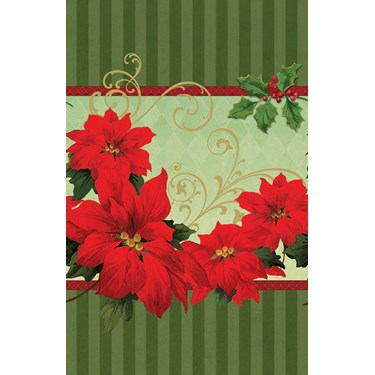 Vintage Poinsettia - Plastic Tablecover