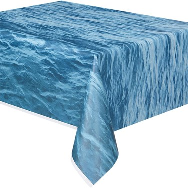 Water Print Plastic Table Cover (1)