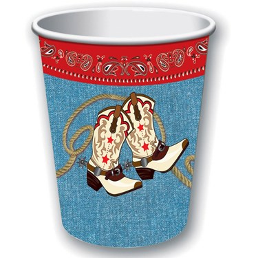 Way Out West Decor  9 oz Paper Cup(8)