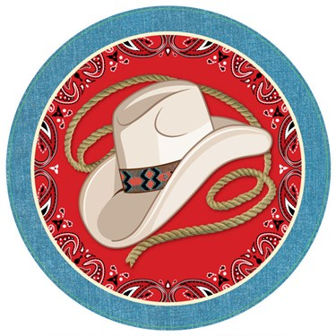 "Western 9"" Plates (8)"
