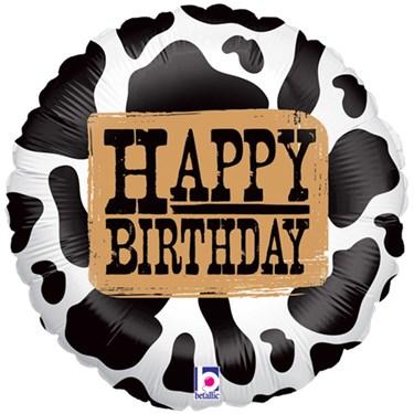 Western Birthday Foil Balloon