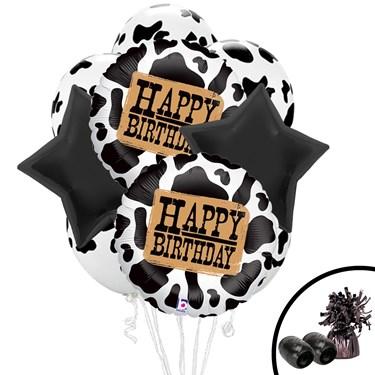 Western Cow Print Balloon Bouquet