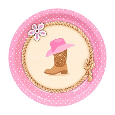 Western Cowgirl Party Dessert Plates (8)