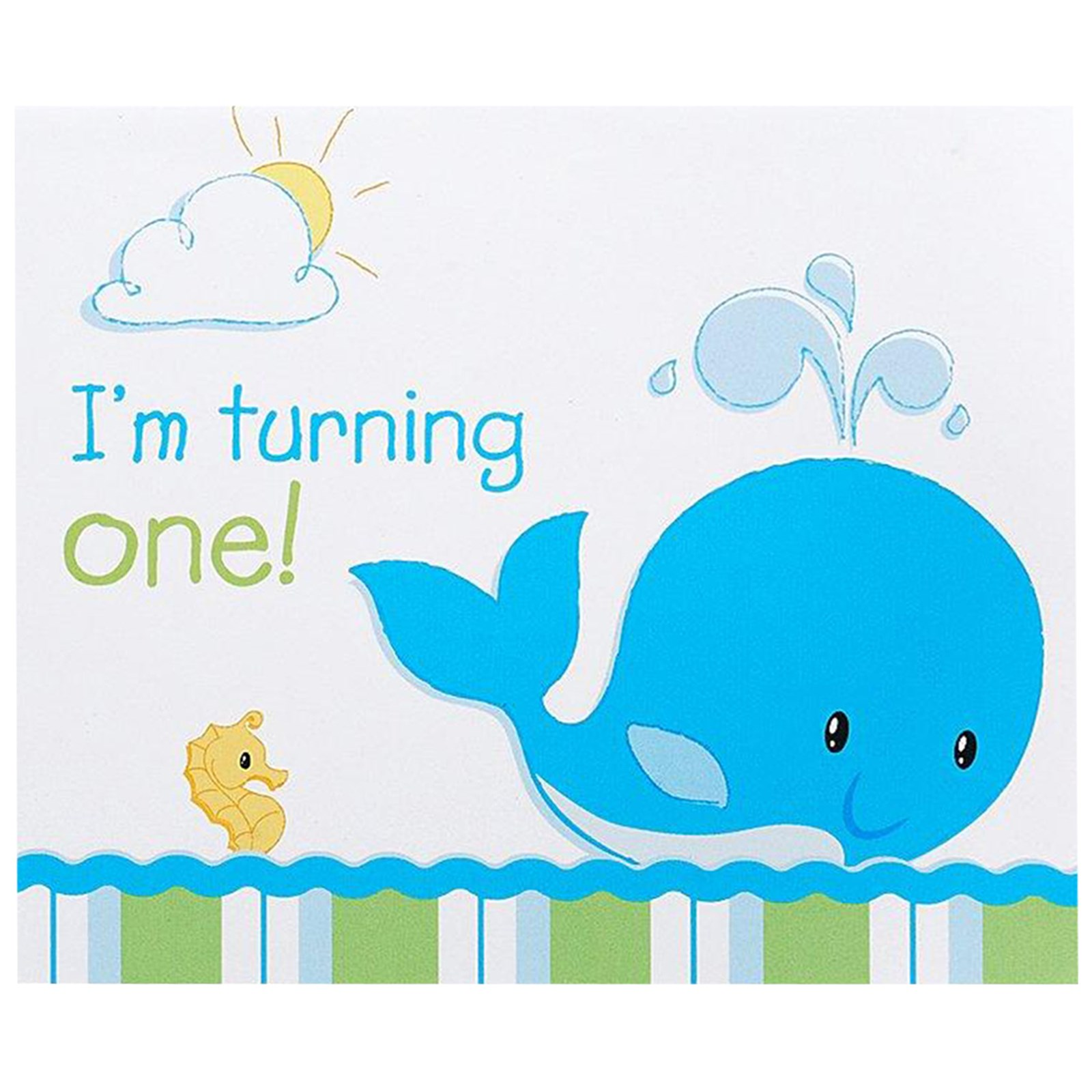 Whale of Fun 1st Birthday Invitations