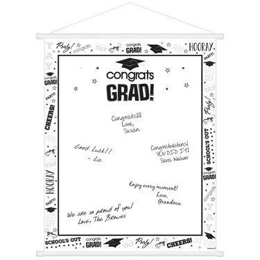 White Graduation Sign-In Scroll (Each)