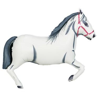White Horse Jumbo Foil Balloon