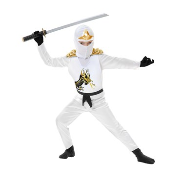 White Ninja Avengers Series II Child Costume