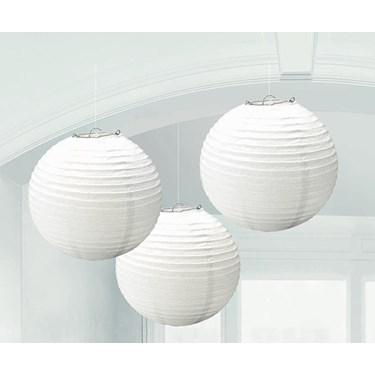 White Round Paper Lanterns (3)