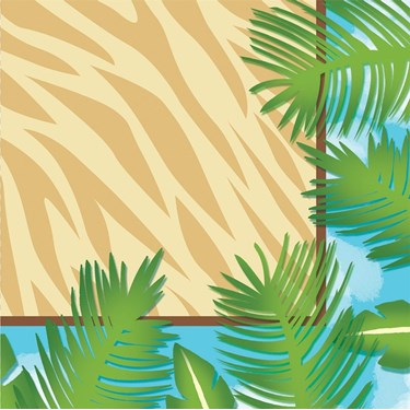 Wild Safari Beverage Napkins (16)