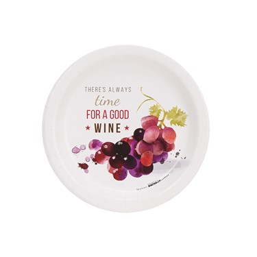 Wine Party Time For Wine Cocktail Plates (8)