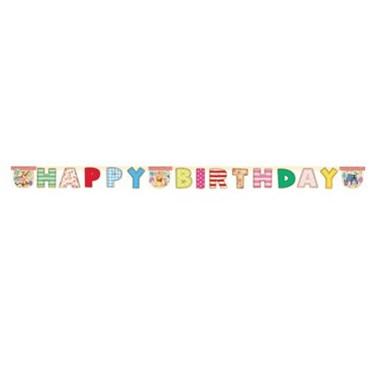 """Winnie the Pooh Alphabet 78"""" Happy Birthday Banner"""