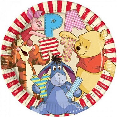 "Winnie the Pooh Alphabet 9"" Lunch Plates (8)"