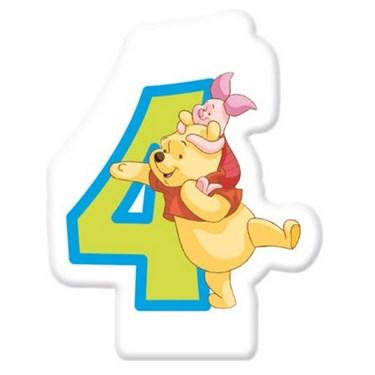 Winnie the Pooh Alphabet Candle No. 4