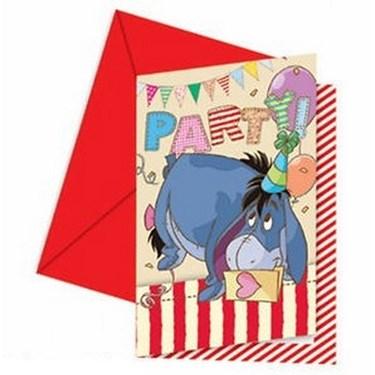 Winnie the Pooh Alphabet Invitations & Envelopes (6)