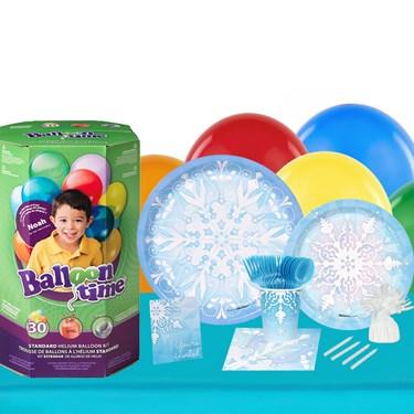 Winter Wonderland 16 Piece Tableware & Helium Tank