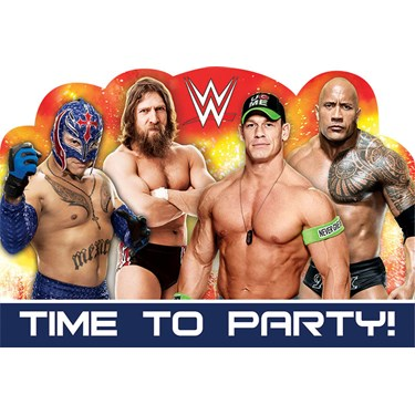 WWE Party Invitations (8)