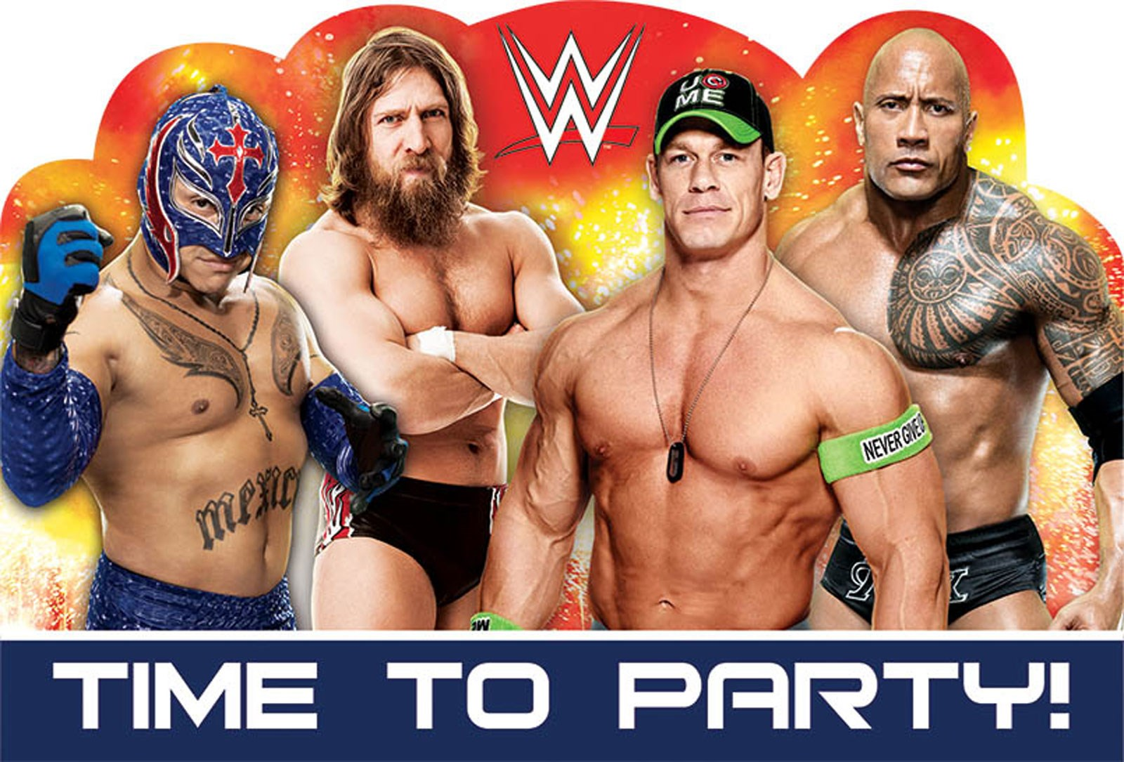 WWE Party Invitations 8