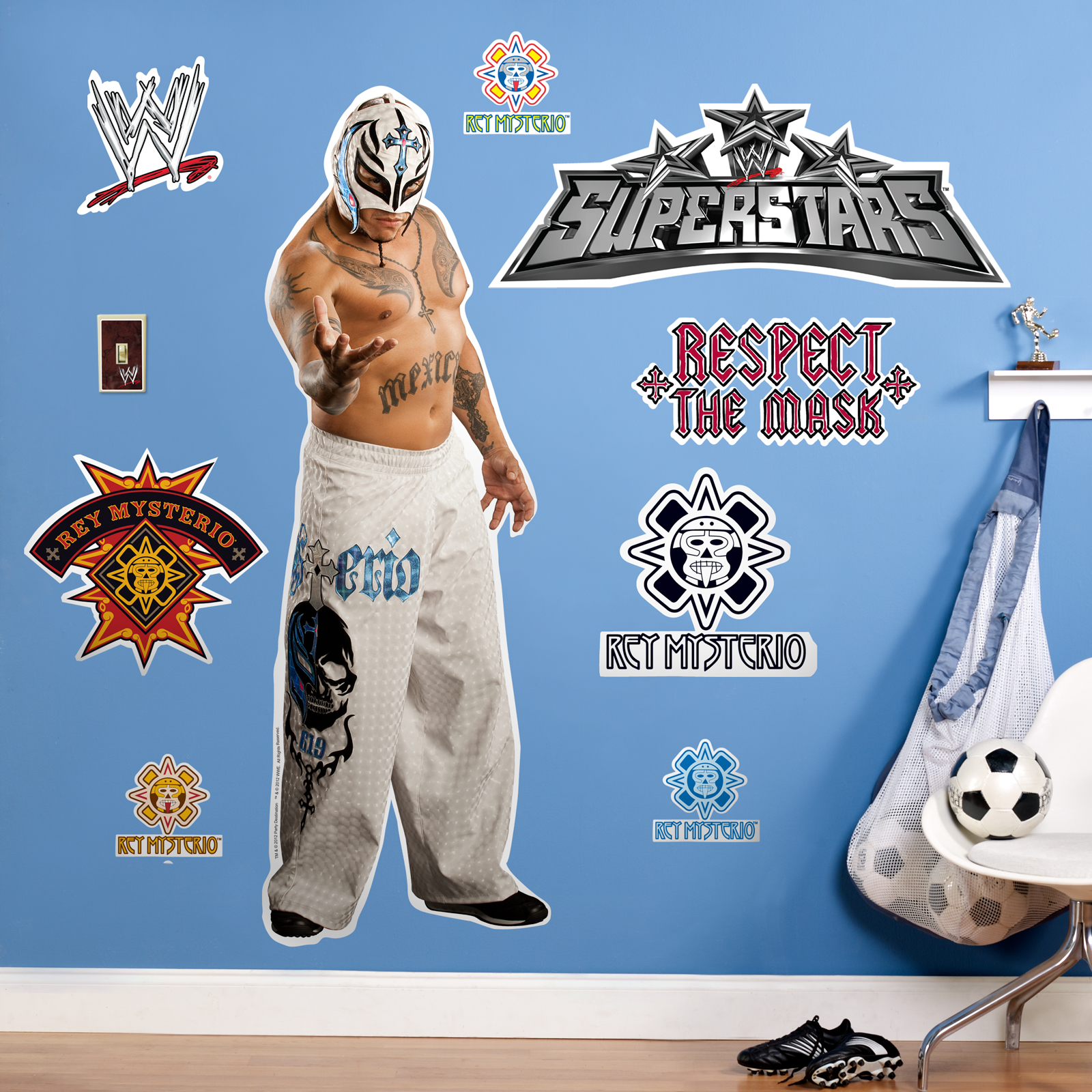 Default Image   WWE Rey Mysterio Giant Wall Decals