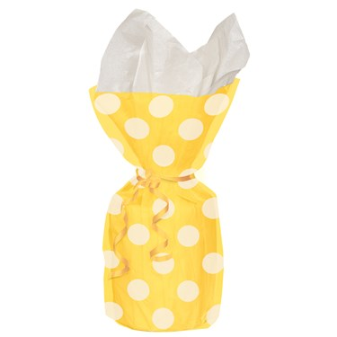Yellow Dots Cello Favor Bags (20)