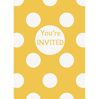 Yellow Dots Invitations (8)