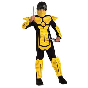 Yellow Ninja Kids Costume