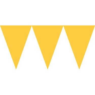 Yellow Paper Pennant Banner