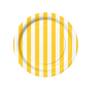 Yellow Stripe Dessert Plates