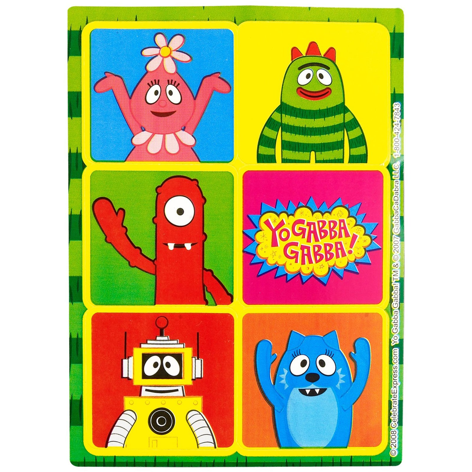 Yo Gabba Gabba Inflatable Christmas Decoration - Default image yo gabba gabba sticker sheets